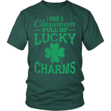 Teacher - Lucky Charms - District Unisex Shirt / Dark Green / S - 3