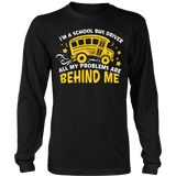 School Bus Driver - Problems - District Long Sleeve / Black / S - 7