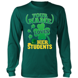 Teacher - St. Patrick's Day Students - District Long Sleeve / Dark Green / S - 7