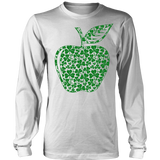 Teacher - Apple Clovers - Broken - District Long Sleeve / White / S - 6