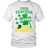 Teacher - St. Patrick's Day Her Students - District Unisex Shirt / White / S - 2