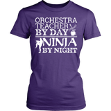 Orchestra - Teacher By Day - District Made Womens Shirt / Purple / S - 11
