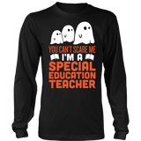 Special Education - Halloween Ghost - District Long Sleeve / Black / S - 4