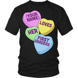 First Grade - Candy Hearts - District Unisex Shirt / Black / S - 5