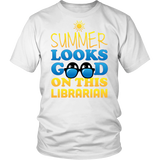 Librarian - Summer Looks Good - District Unisex Shirt / White / S - 2