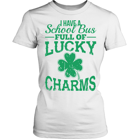 School Bus Driver - Lucky Charms - District Made Womens Shirt / White / S - 1