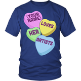 Art - Candy Hearts - District Unisex Shirt / Royal Blue / S - 2
