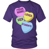 Teacher - Candy Hearts Students - District Unisex Shirt / Purple / S - 4
