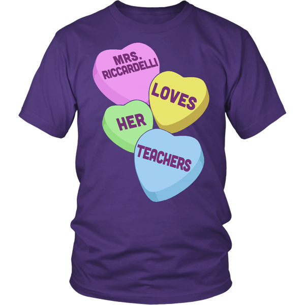 Mrs. Riccardelli - Custom HeartsT-shirt - Keep It School