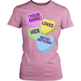 Math - Candy Hearts - District Made Womens Shirt / Pink / S - 11