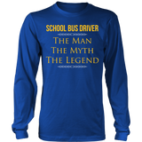 School Bus Driver - The Man The Myth - District Long Sleeve / Royal Blue / S - 5