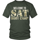 SAT Boot Camp - District Unisex Shirt / Olive / S - 1