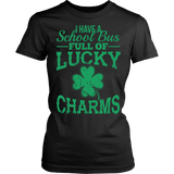 School Bus Driver - Lucky Charms - District Made Womens Shirt / Black / S - 11