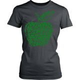 Teacher - Apple Clovers - District Made Womens Shirt / Charcoal / XS - 11