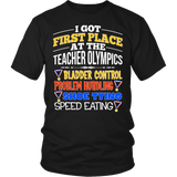 Teacher - Teacher Olympics - District Unisex Shirt / Black / S - 6