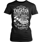 Theater - Crazy Fantasy - District Made Womens Shirt / Black / S - 9