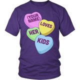 Teacher - Candy Hearts Kids - District Unisex Shirt / Purple / S - 4
