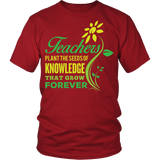 Teacher - Seeds of Knowledge - District Unisex Shirt / Red / S - 3