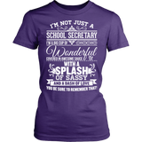 Secretary - Big Cup - District Made Womens Shirt / Purple / S - 10