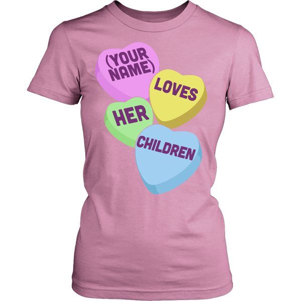 Teacher - Candy Hearts Children - District Made Womens Shirt / Pink / S - 11