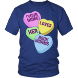 Librarian - Candy Hearts - District Unisex Shirt / Royal Blue / S - 2