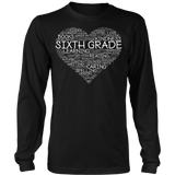 Sixth Grade - Heart - District Long Sleeve / Black / S - 8