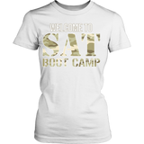 SAT Boot Camp - District Made Womens Shirt / White / S - 10