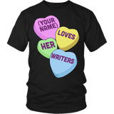 English - Candy Hearts - District Unisex Shirt / Black / S - 5