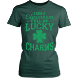 Teacher - Lucky Charms - District Made Womens Shirt / Forest Green / S - 12