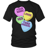 Third Grade - Candy Hearts - District Unisex Shirt / Black / S - 5