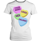 Teacher - Candy Hearts Children - District Made Womens Shirt / White / S - 13
