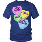 First Grade - Candy Hearts - District Unisex Shirt / Royal Blue / S - 2