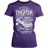 Theater - Crazy Fantasy - District Made Womens Shirt / Purple / S - 10