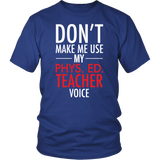 Phys Ed - Voice - District Unisex Shirt / Royal Blue / S - 2