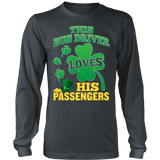 School Bus Driver - St. Patrick's Day His Passengers - District Long Sleeve / Charcoal / S - 7