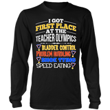 Teacher - Teacher Olympics - District Long Sleeve / Black / S - 9