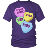 Lunch Lady - Candy Hearts - District Unisex Shirt / Purple / S - 4