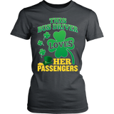 School Bus Driver - St. Patrick's Day Her Passengers - District Made Womens Shirt / Charcoal / S - 13