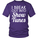 Theater - Show Tunes - District Unisex Shirt / Purple / S - 2