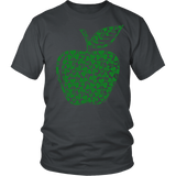 Teacher - Apple Clovers - Broken - District Unisex Shirt / Charcoal / S - 4