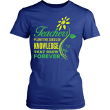 Teacher - Seeds of Knowledge - District Made Womens Shirt / Royal Blue / S - 9