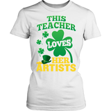 Art - St. Patrick's Artists - District Made Womens Shirt / White / S - 10