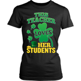 Teacher - St. Patrick's Day Her Students - District Made Womens Shirt / Black / S - 11