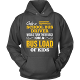 School Bus Driver - Turn Their Back - Hoodie / Charcoal / S - 9