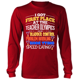 Teacher - Teacher Olympics - District Long Sleeve / Red / S - 7