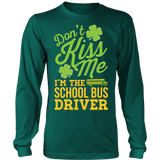 School Bus Driver - Don't Kiss Me - District Long Sleeve / Dark Green / S - 4