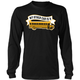 School Bus Driver - My Other Car - District Long Sleeve / Black / S - 8