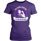 Secretary - Not For The Weak - District Made Womens Shirt / Purple / S - 10