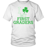 First Grade - Clover - District Unisex Shirt / White / S - 3