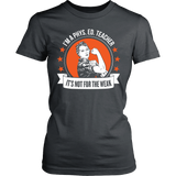Phys Ed - Not For The Weak - District Made Womens Shirt / Charcoal / S - 13